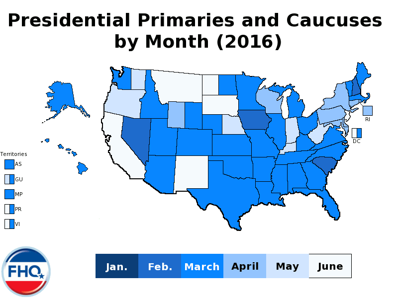 2016 Primary by Month