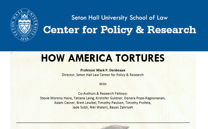 """How America Tortures"", by Mark P. Denbeaux"